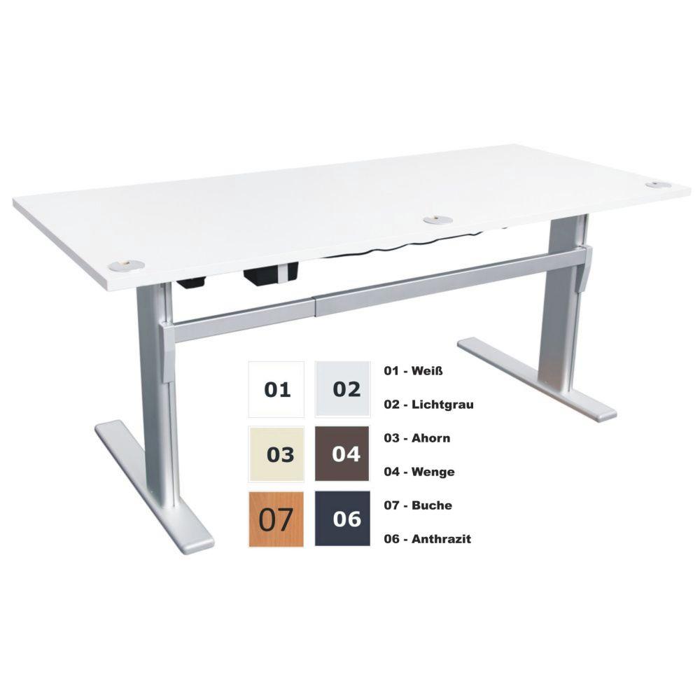 elektrisch h henverstellbarer schreibtisch bxt 140x80 cm wei neu ovp ebay. Black Bedroom Furniture Sets. Home Design Ideas
