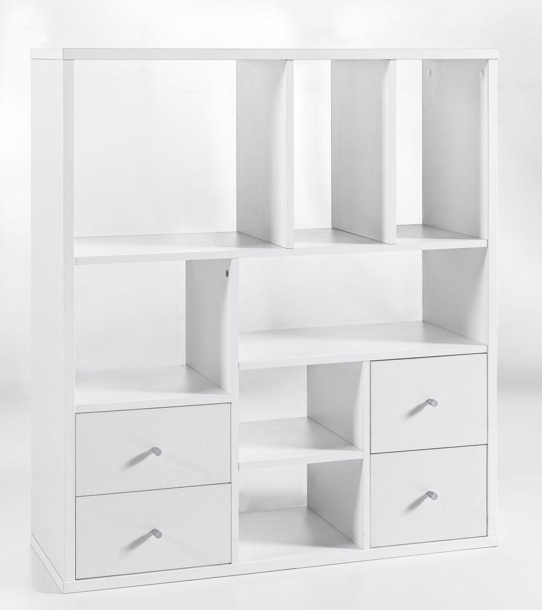 regale b cherregale raumteiler serie base wei div gr en. Black Bedroom Furniture Sets. Home Design Ideas