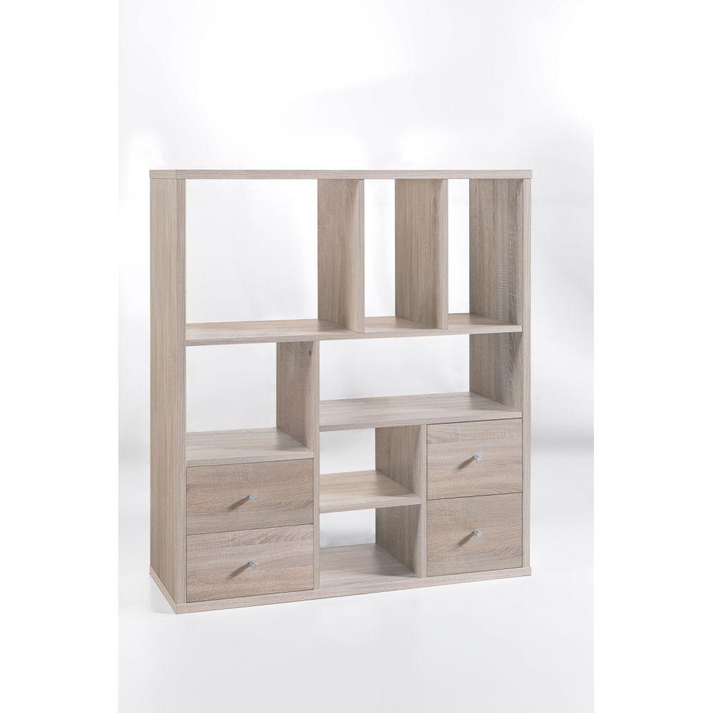 regal b cherregal raumteiler base 4 eiche sonoma neu ovp ebay. Black Bedroom Furniture Sets. Home Design Ideas