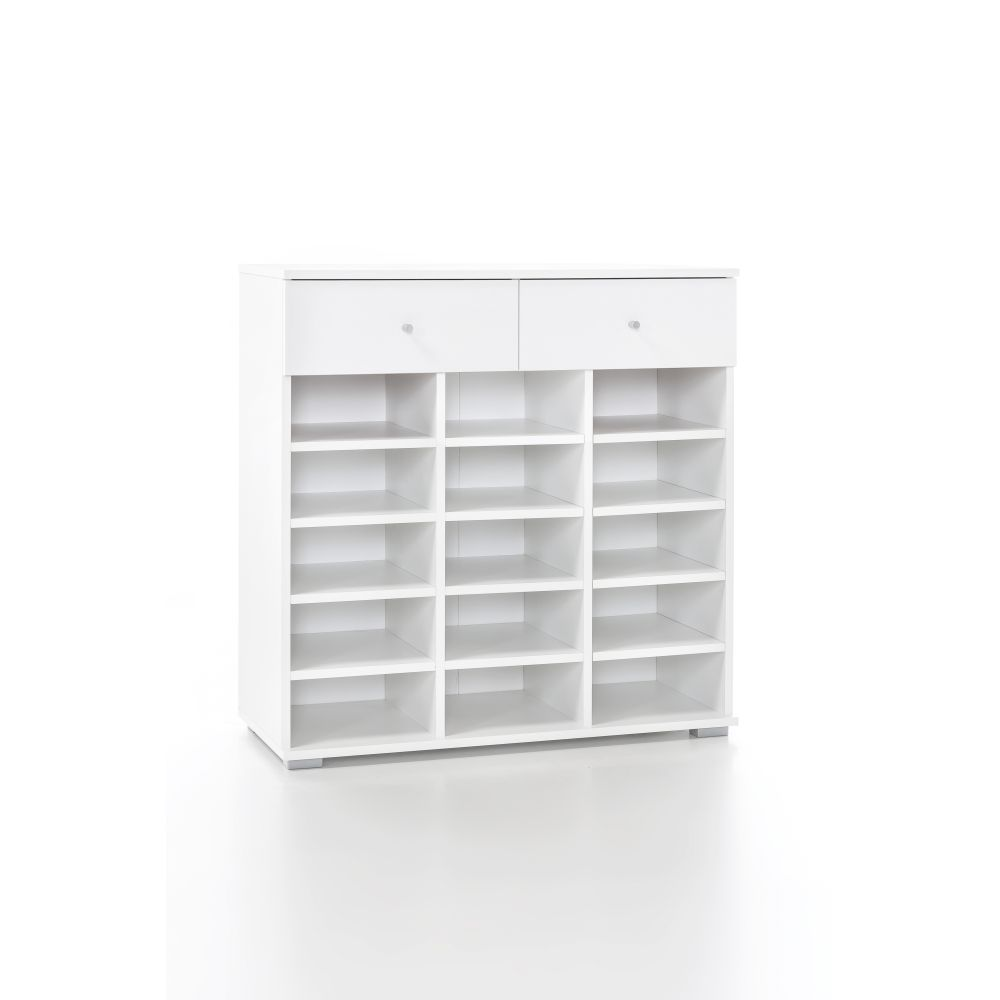 garderobe wandgarderobe h ngeschrank schuhregal paneel spiegel weiss neu ovp ebay. Black Bedroom Furniture Sets. Home Design Ideas