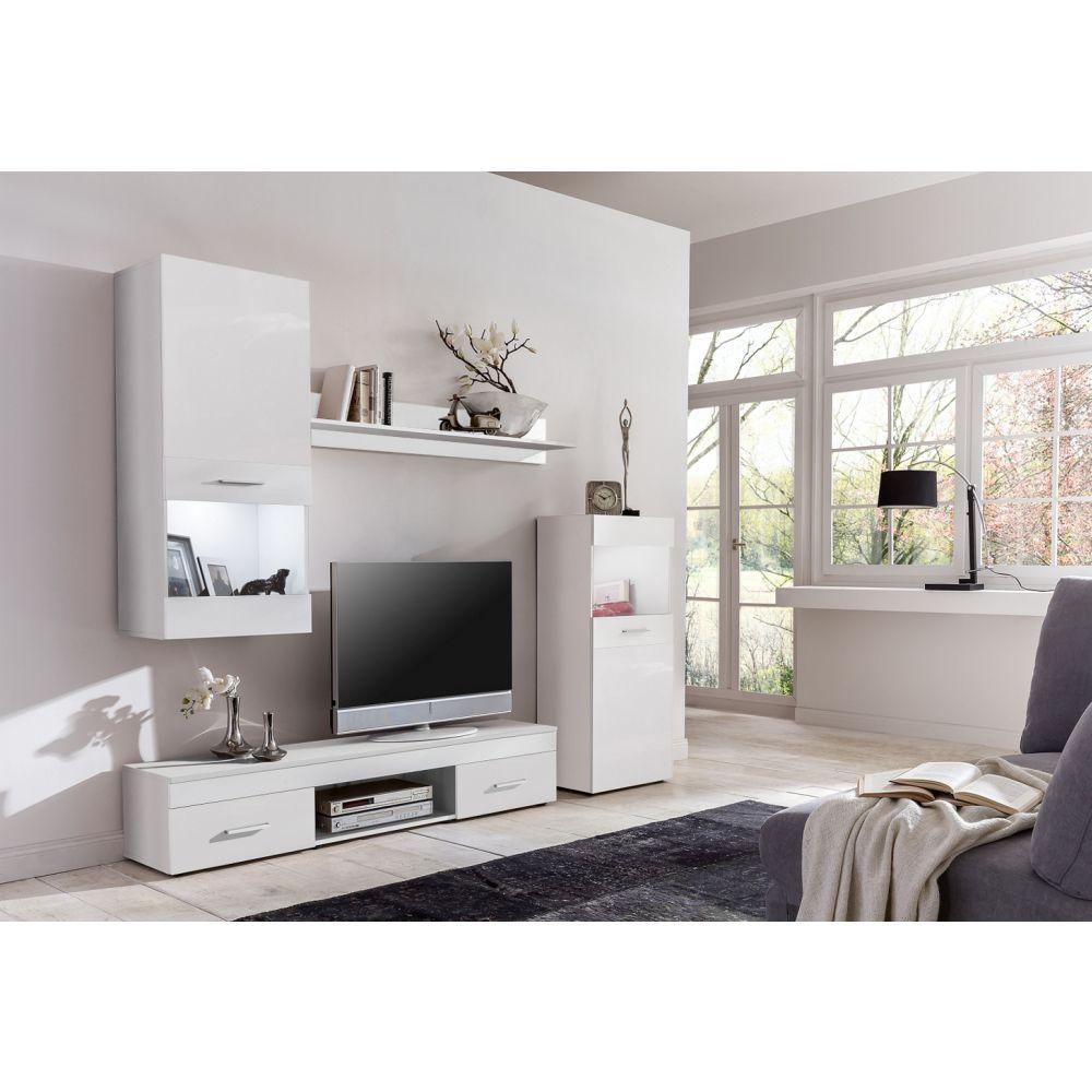 wohnwand anbauwand schrankwand easy 4tlg versch farben neu ovp ebay. Black Bedroom Furniture Sets. Home Design Ideas